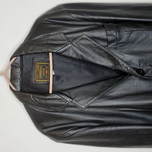 VTG GABRIEL BLACK Genuine Leather Coat